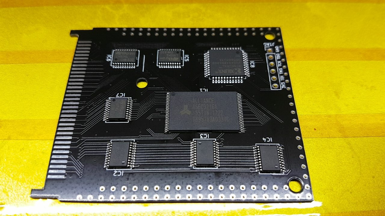 Amiga 600//1200 4MB PCMCIA SRAM expansion PCB board